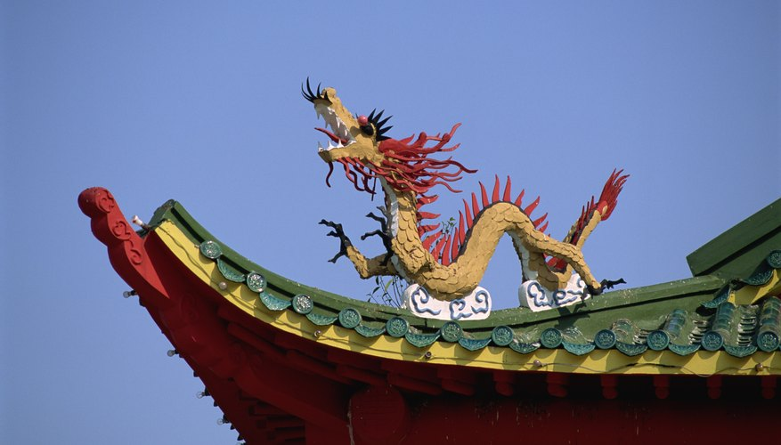 The dragon is a common symbol in Taoist temple decor.