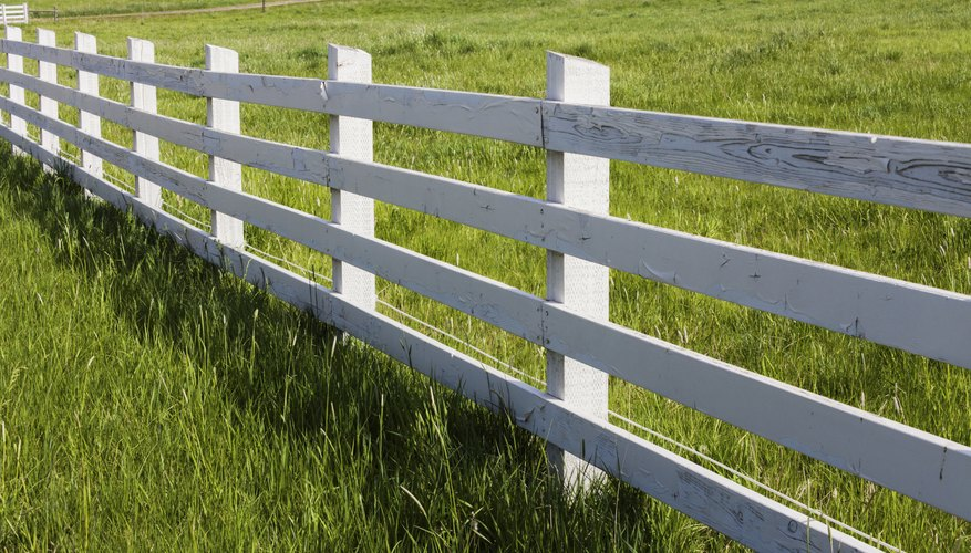Dig deep to give your fence posts stability.