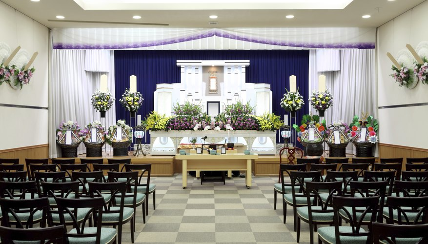 A wake may be held at a funeral home.