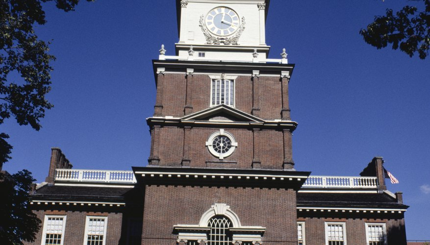 The Constitutional Convention was held secretly in Philadelphia's Independence Hall.