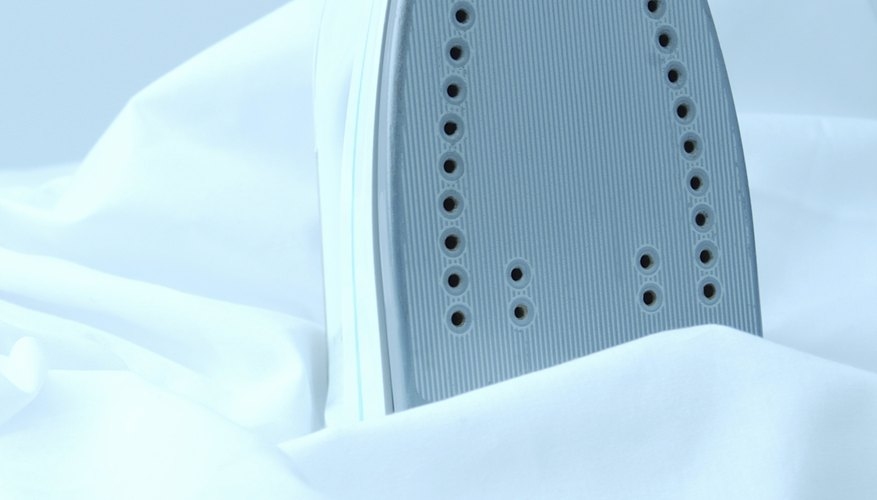 Stainless steel soleplates are effective on natural fabrics.