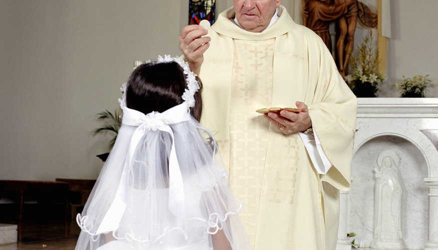 First Communion for children is both a solemn and festive occasion.