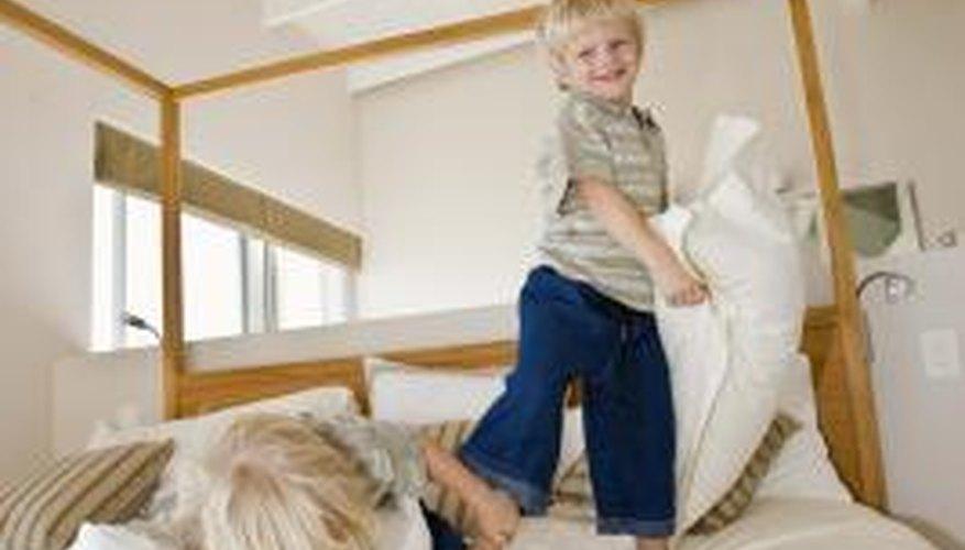 Kids jumping on memory foam beds won't hurt the mattress.
