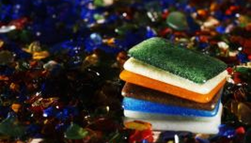 Decorate your home with colourful resin tiles.