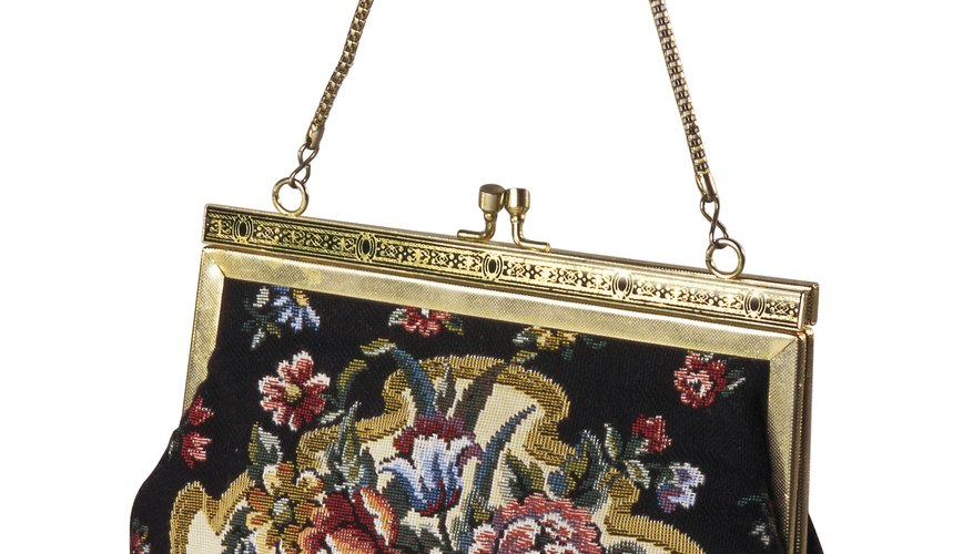 Freshen up an old purse to keep your belongings clean.
