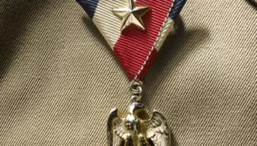 Medals must be worn a certain way for each military uniform.