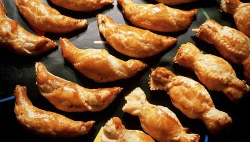 Add a variety of colours to turnovers for a visually pleasing presentation.