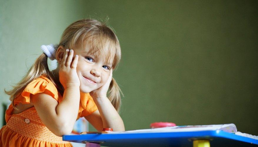 Young preschooler in classroom