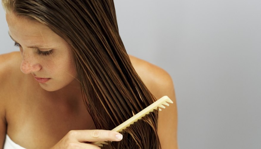 Remove tangles with a wide-toothed comb.