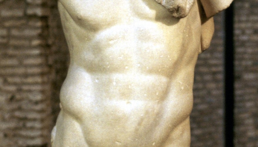 Greek statues highlighted the musculature and grace of the male form.
