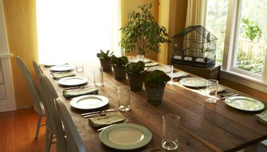 Clean your pine table often to maintain the beauty of the wood.