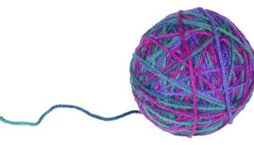 Soften itchy yarn by soaking it in hair conditioner.