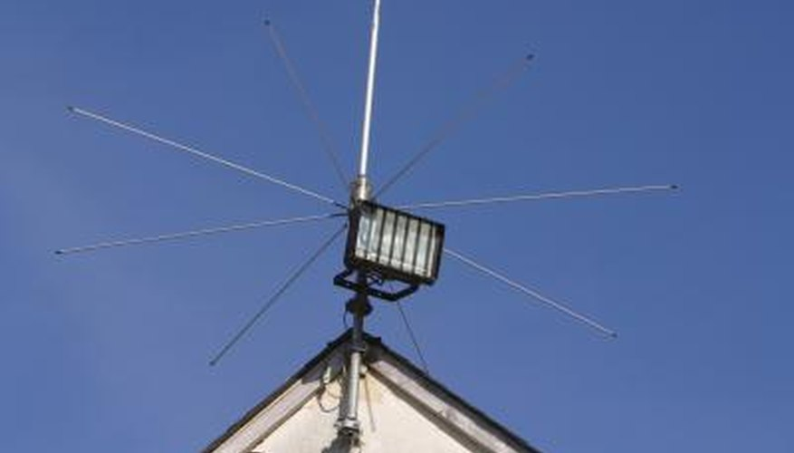 Most hams have antennas on their roof or a nearby mast.