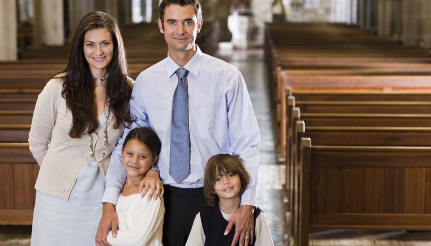 Mormon children are baptized at 8 years old in a simple ceremony attended by friends and family.