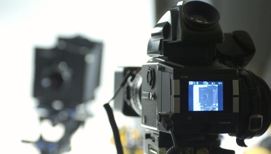 Large camera in studio.
