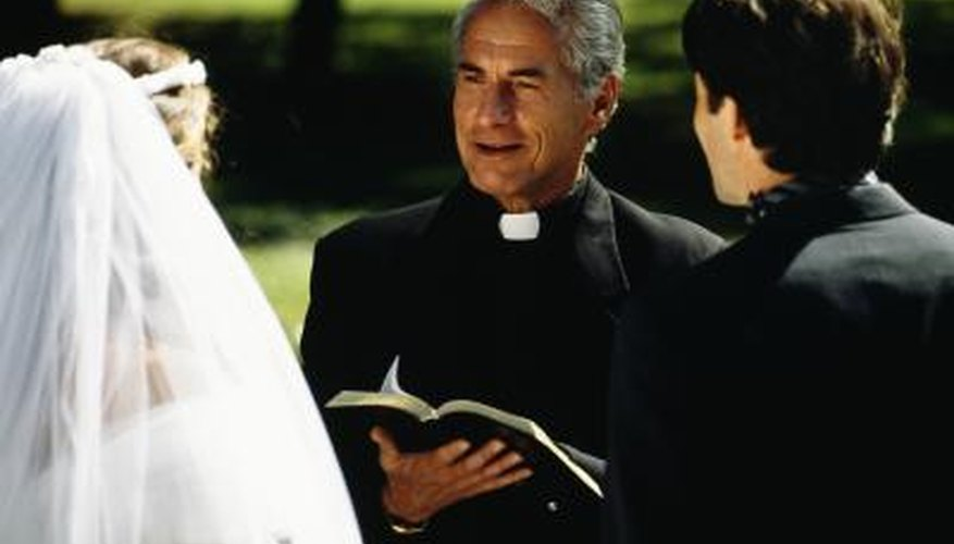 Black is traditionally worn by priests in formal occassions such as weddings.
