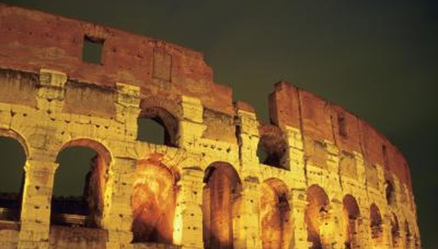 In ancient Rome, theatre was a big part of the entertainment.