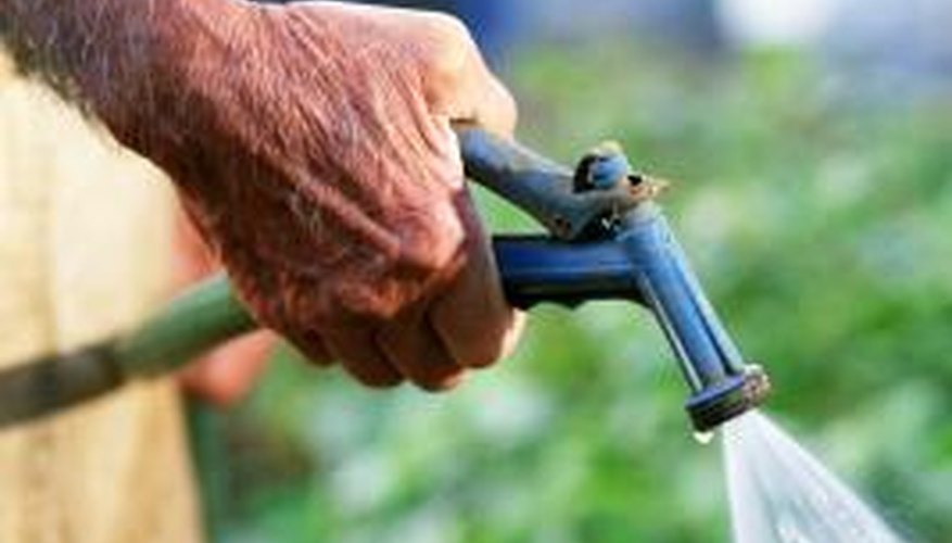 Hose diameter, length and supply pressure determine the flow rate from a garden hose.