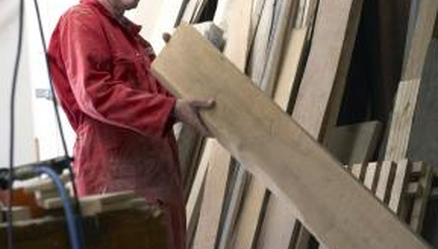 Ordinary steel screws could cause rust stains in oak lumber.