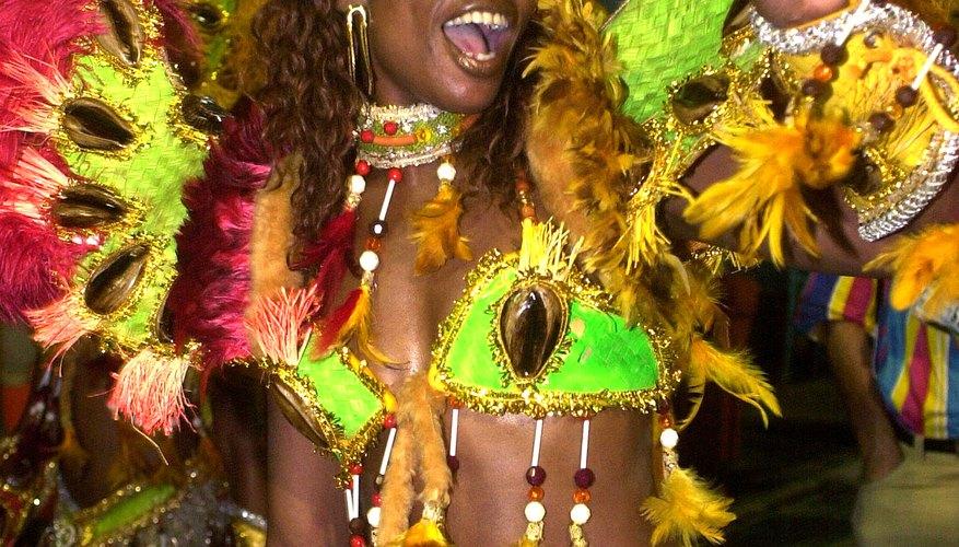 Samba dancer in costume