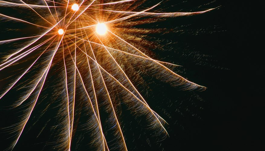 GIMP's Gradient Flare can make realistic CGI fireworks images.