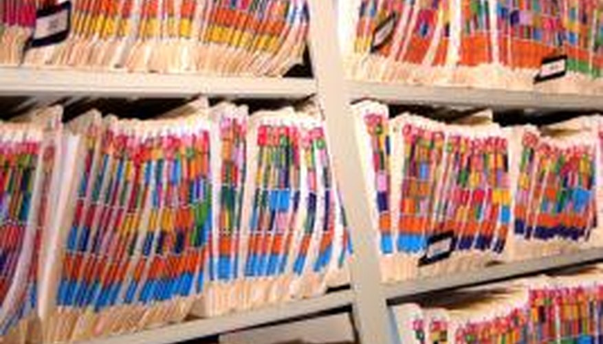 Medical records are managed by alphabetical filing systems in some offices.