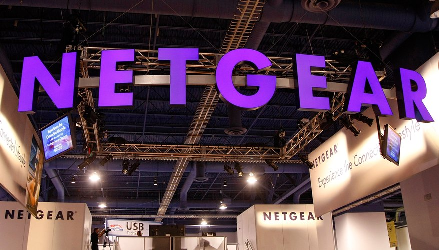 Netgear routers feature a label with useful information about the device on the side.