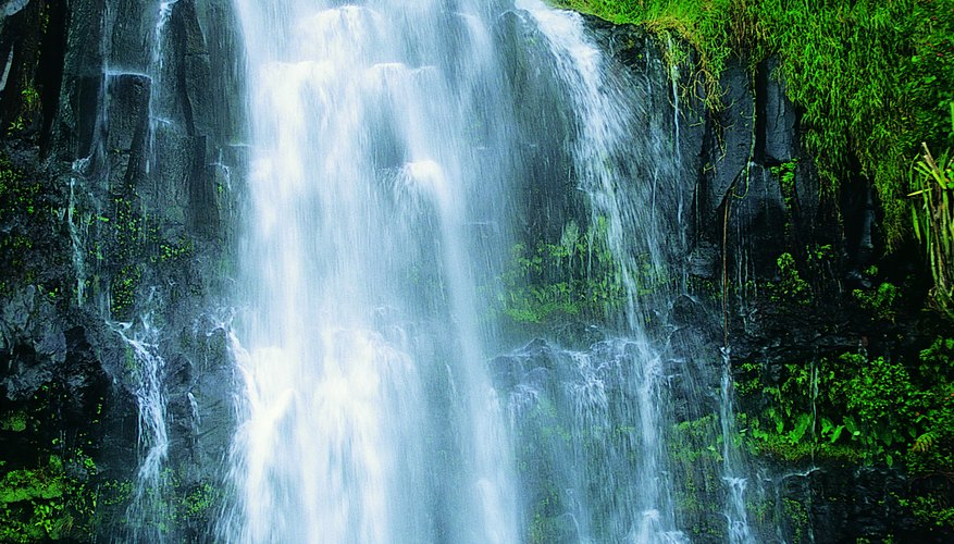 Look at pictures of real waterfalls for inspiration.