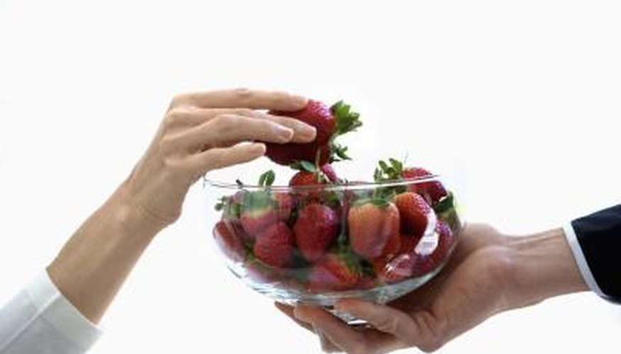 Strawberries are one of many iron-rich foods that kids may enjoy.