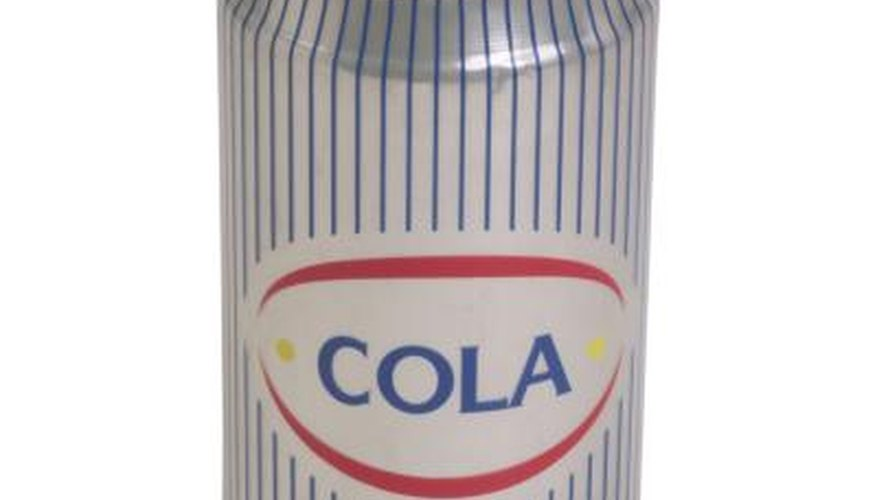 A dark cola soft drink is an effective solution to dissolve chrome coating.