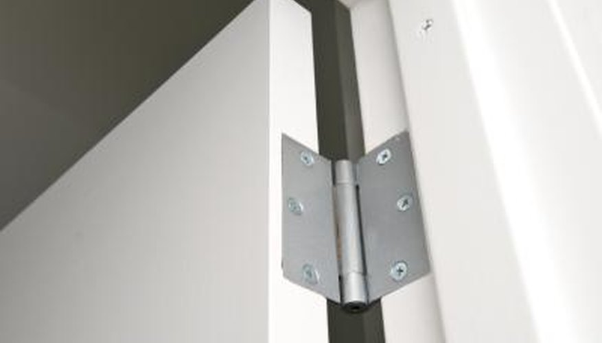 Most hinges come with the necessary screws for mounting them.