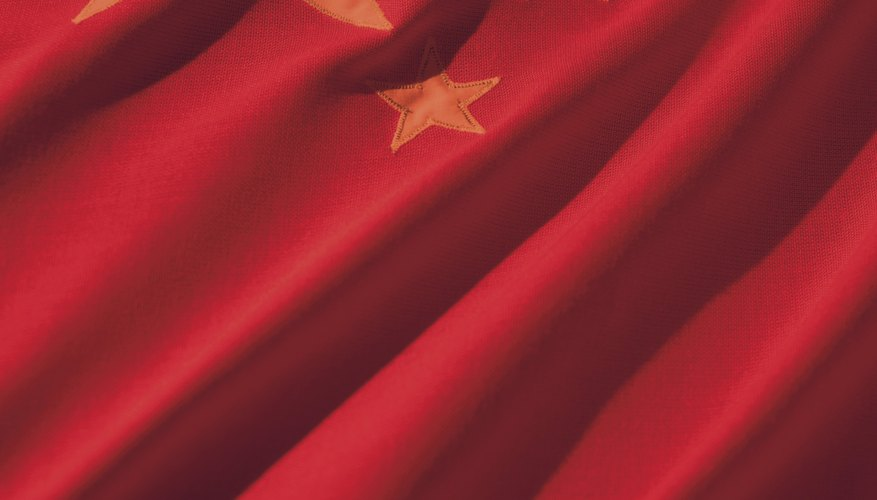 The color red features prominently in the flags of most communist countries.