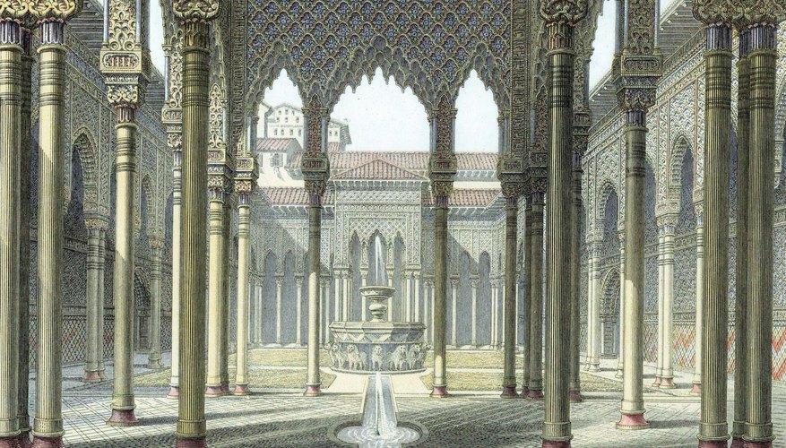 The Alhambra, in Muslim Spain, was built in 889.