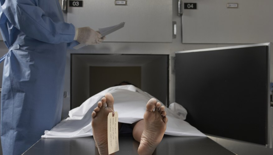 A licensed embalmer replaces the blood in the deceased's body with embalming fluid.