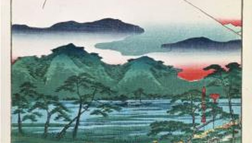 Mount Fuji is a composite volcano featured in many ancient works of art.