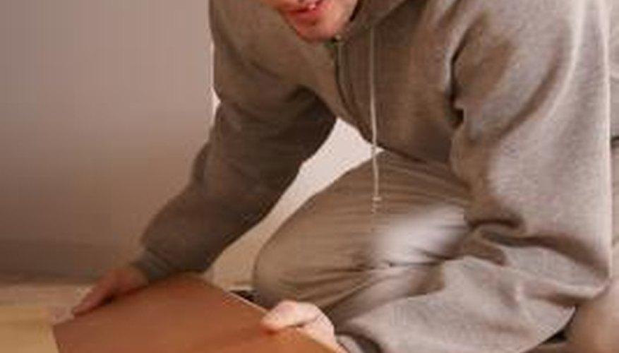 Laminate flooring can resemble wood.
