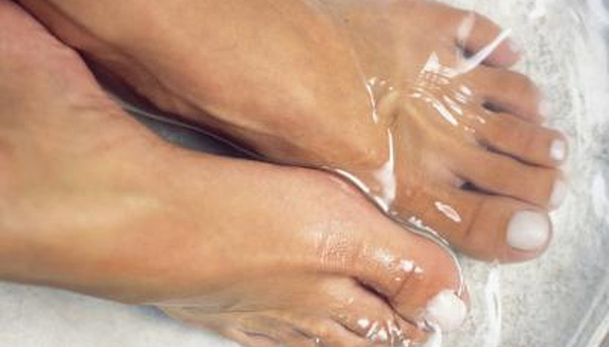 Foot-soaking will help soften corns.