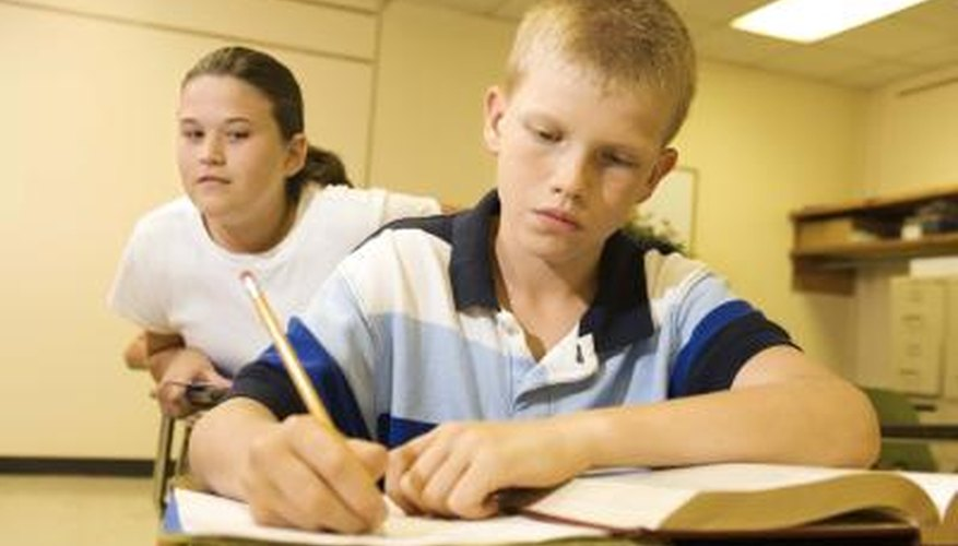 Cheating on a test is a common moral dilemma for children.