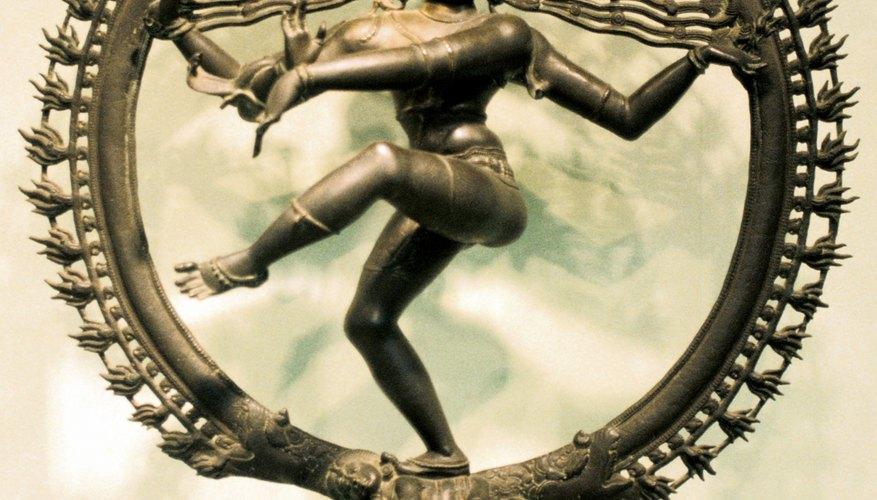 Hindu nuns devote themselves to deities like Shiva.