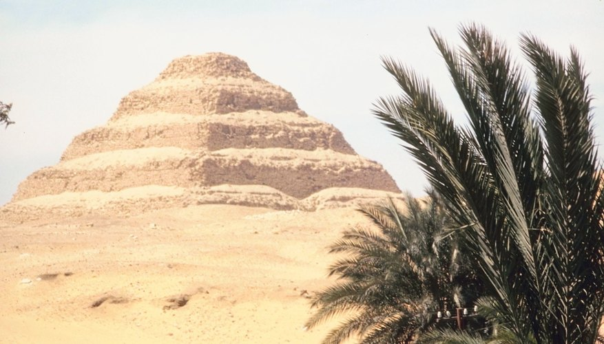 Step pyramids were predecessors to smooth-sided pyramids.