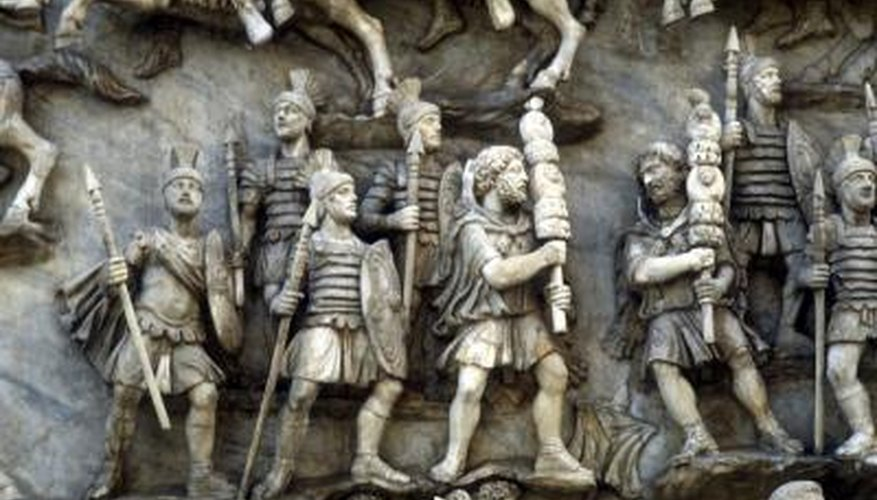Roman soldiers used their shields to protect them from their enemies weapons.