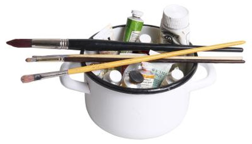 Turpentine is often used to clean paintbrushes and other craft items