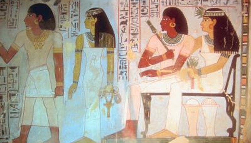 You can make yourself a classic Egyptian toga.