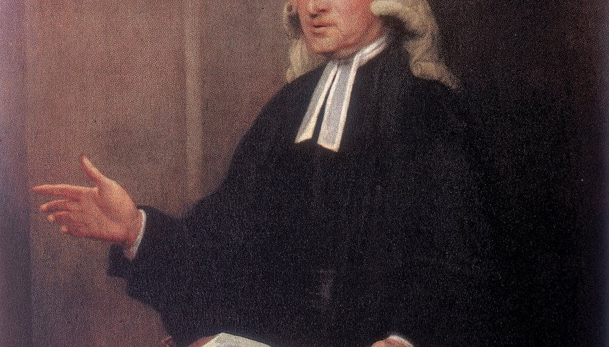 John Wesley's mid-18th century preachings laid the foundation of Methodism.