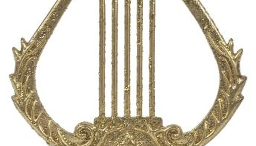 Make a Roman lyre using craft supplies.