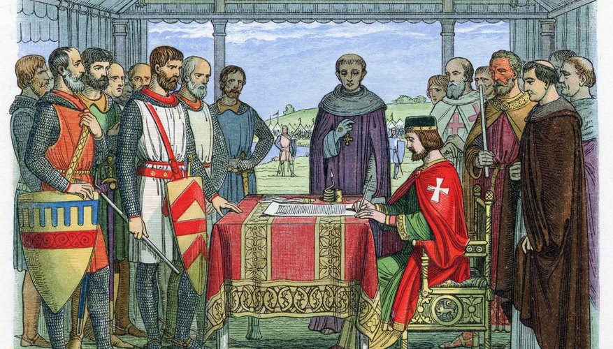 King John signed the Magna Carta in 1215.