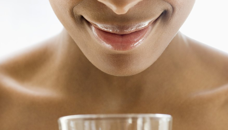 Hydrating skin begins with drinking plenty of water.