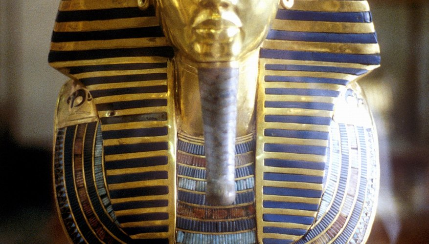 Tutankhamun's gold sarcophagus is one of the best preserved from ancient Egypt.