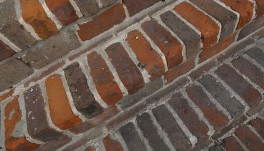 A durable, lasting set of stairs can be made with standard bricks.