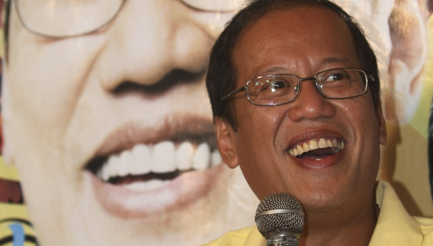 Benigno Aquino serves as president, Liberal Party member and son of politicians.